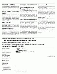 BAIPA institute Mailer